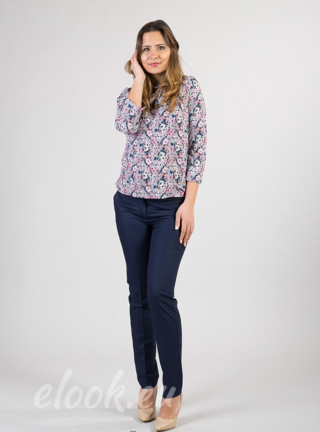 Blouse with a print on the