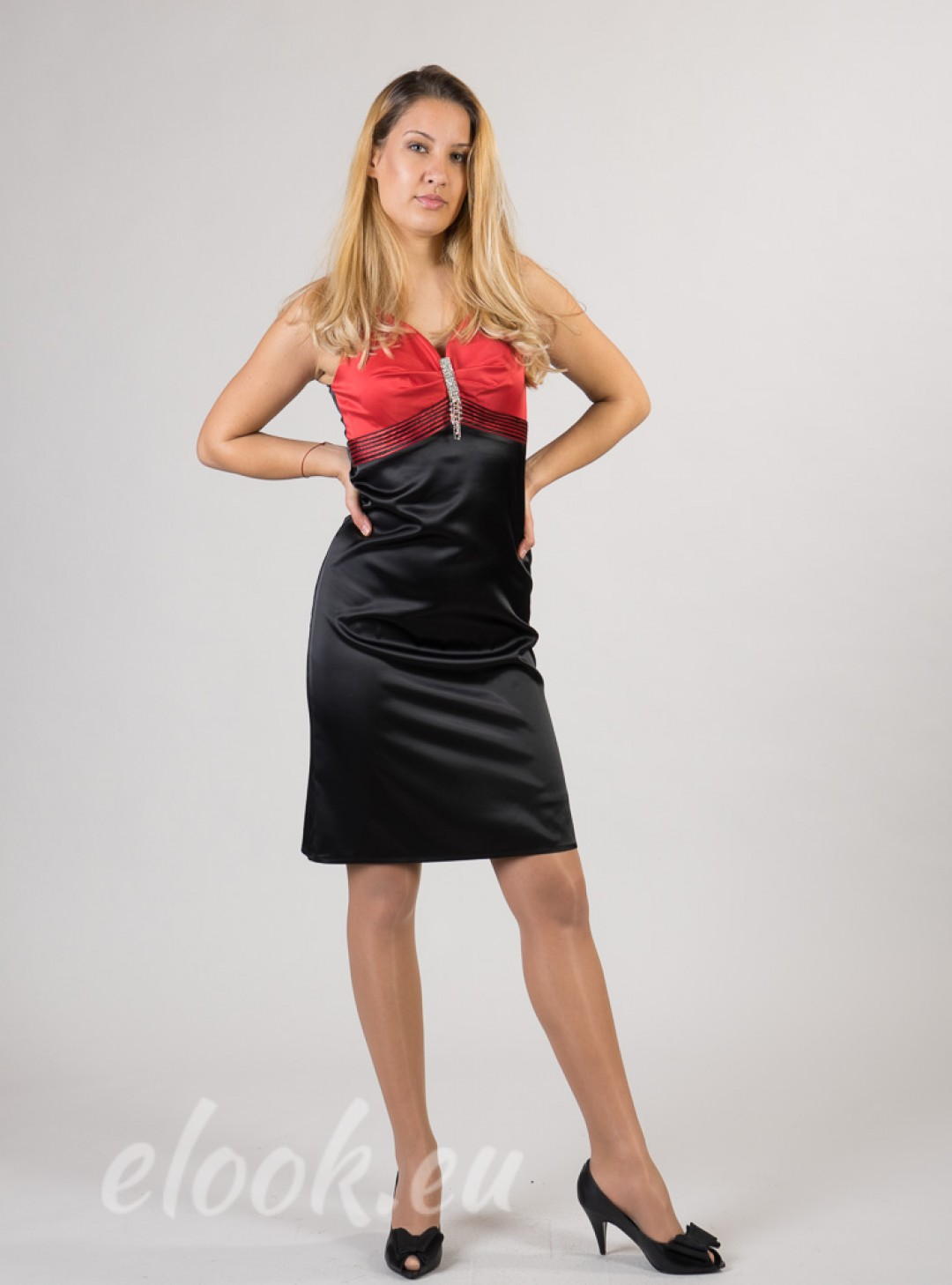 Satin dress in a party or clu...