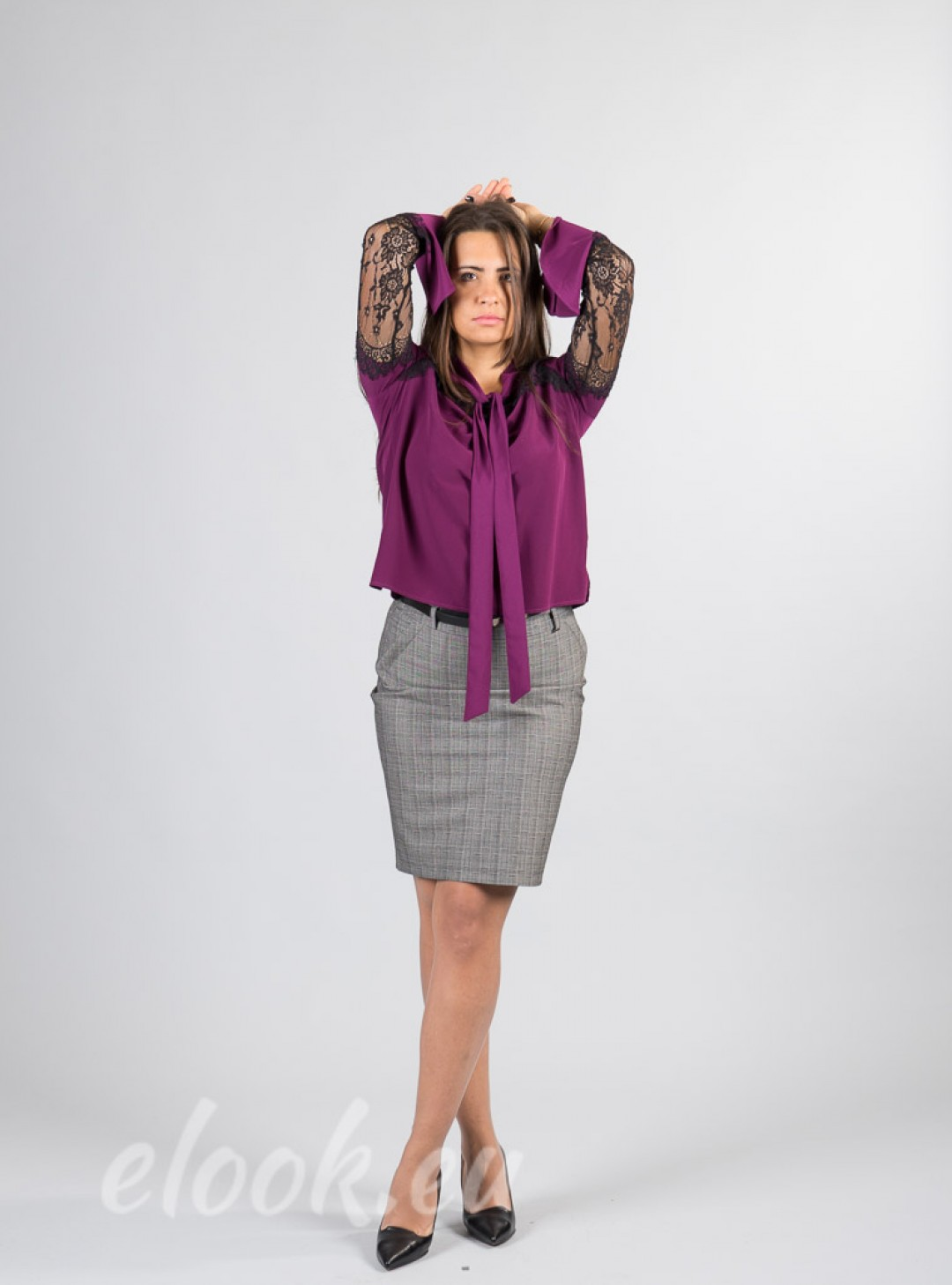 Skirt in a business style with...