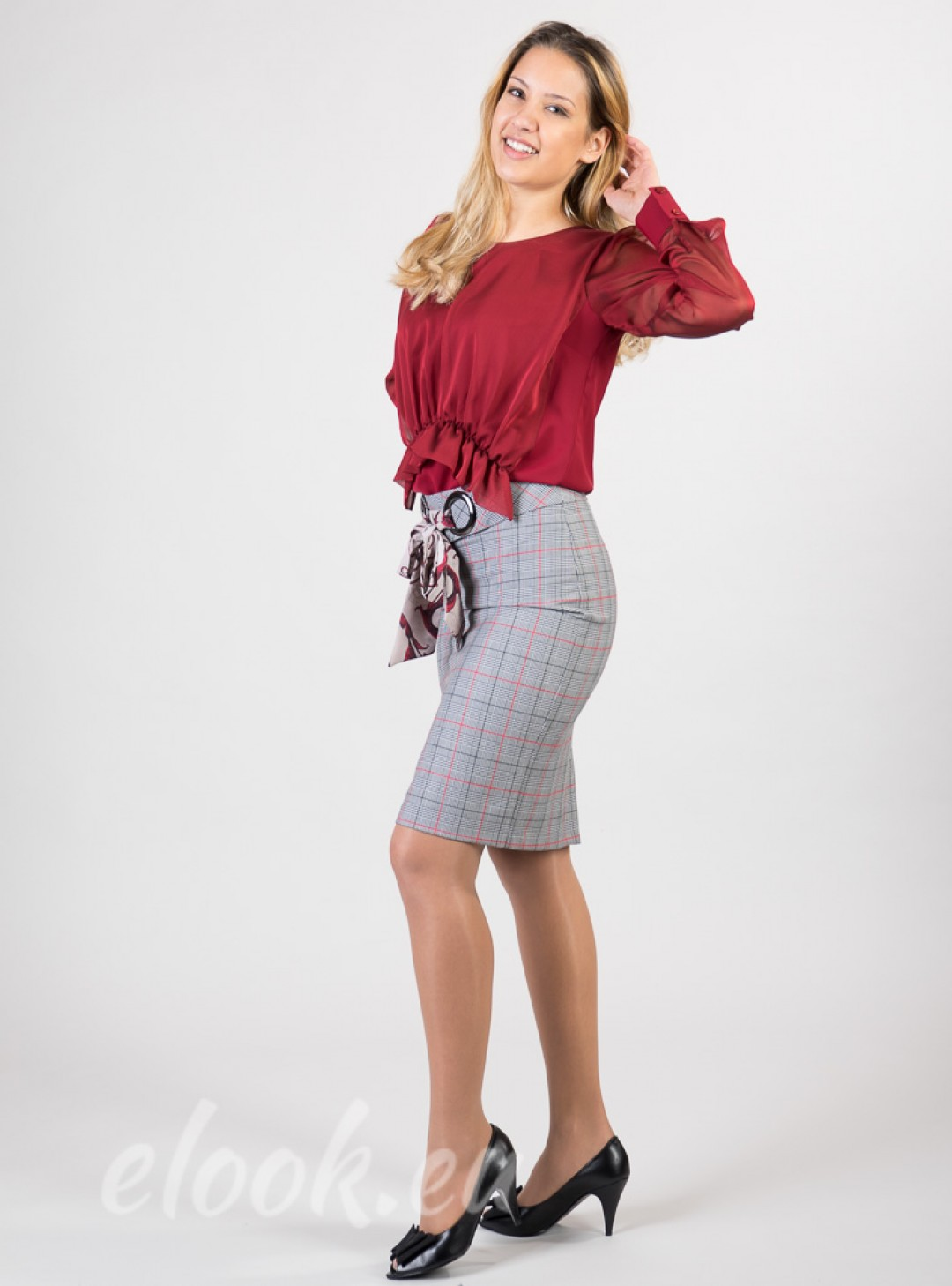 Skirt in a Scottish tartan pla...
