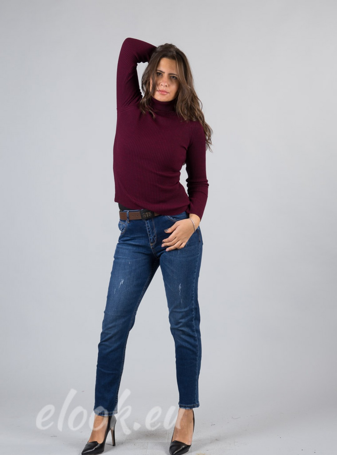 Blouse , with a slim elastic m...