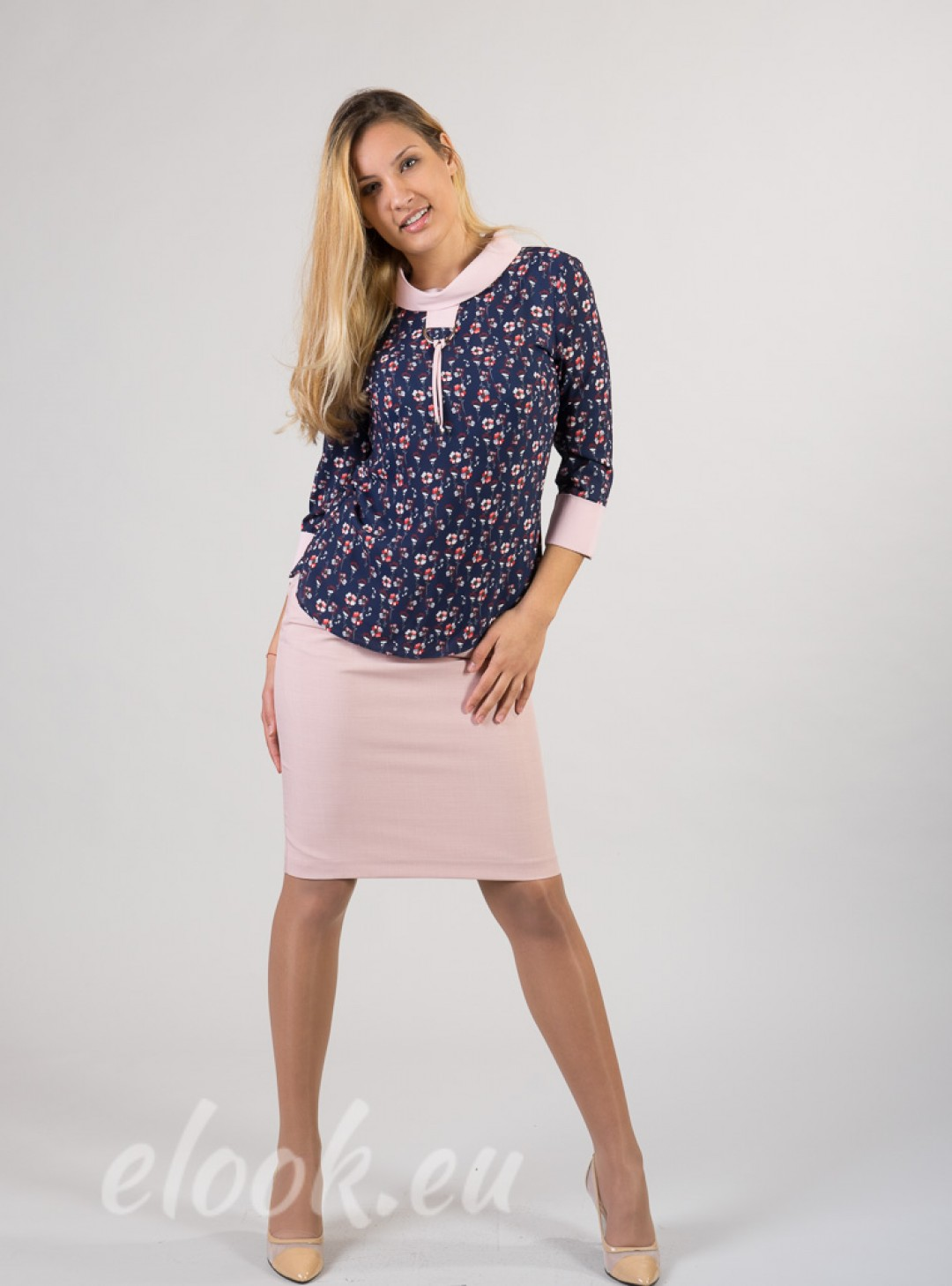 Blouse with 3/4 sleeves, a pri...