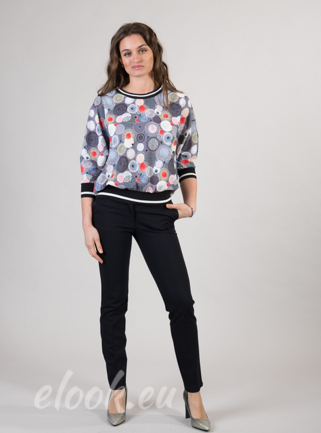 Blouse with 3/4 sleeves sports...