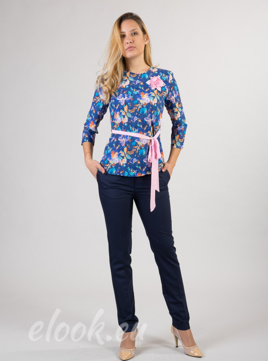 Blouse with a print motif and ...