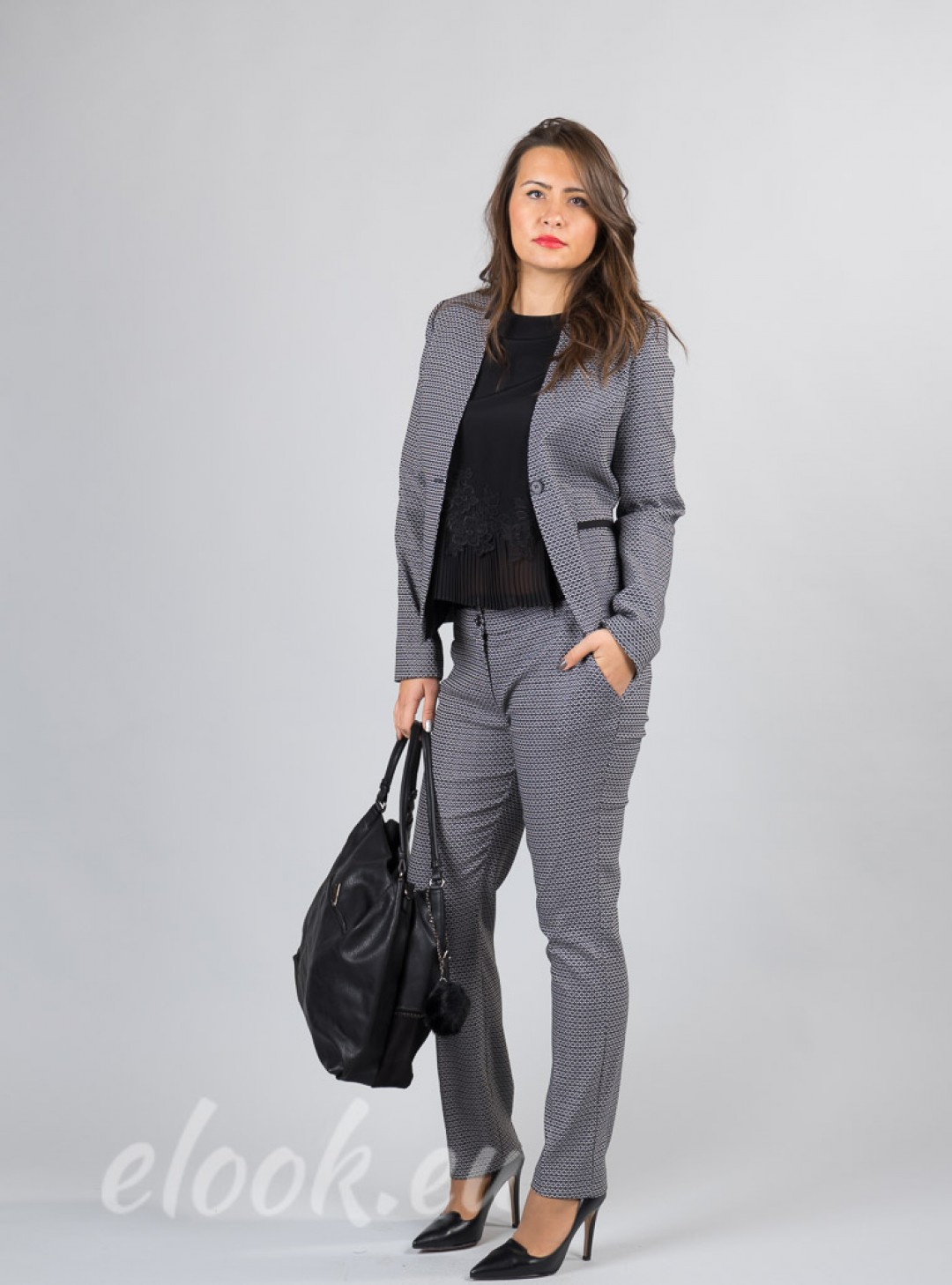 Set of blazer and trousers wit...