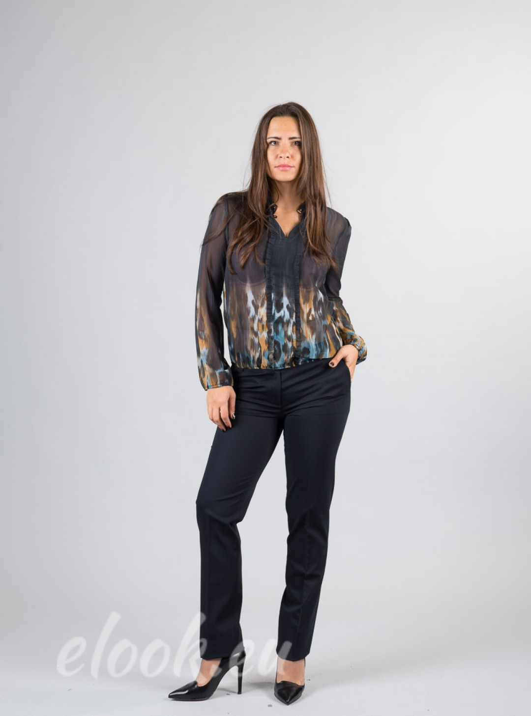 Elegant trousers with sports s...