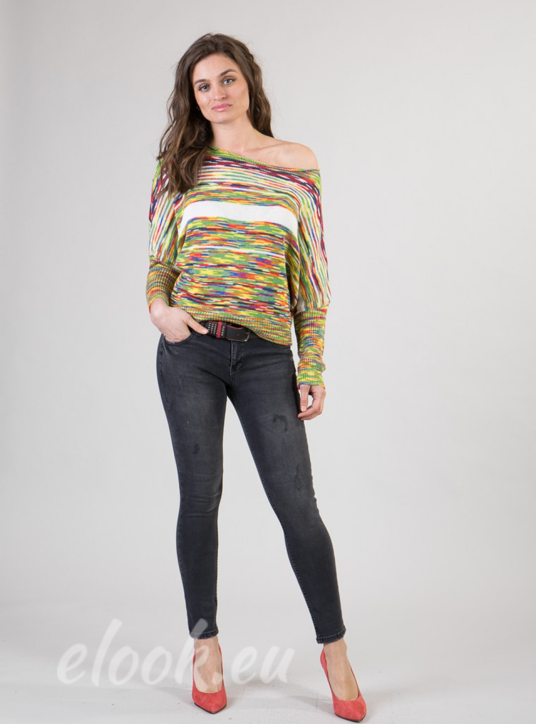 Slim fit jeans, individually p...