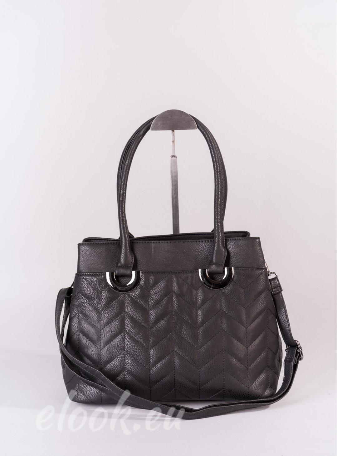 Bag, classic trapezoidal shape...