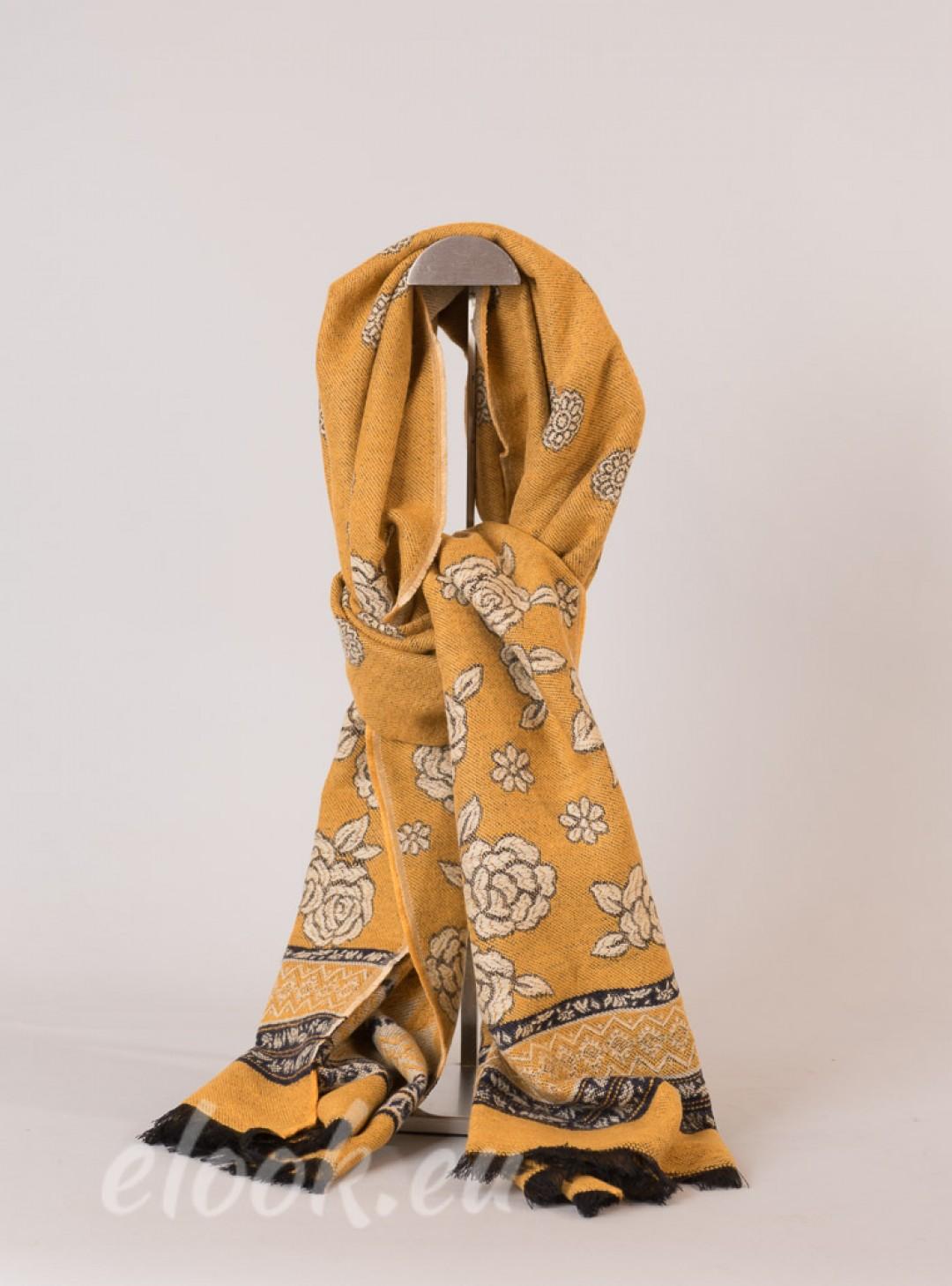 Elegant scarf with interwoven ...